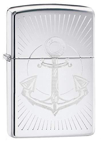 Zippo Anchor Design Feuerzeug, High Polish Chrome, One Size