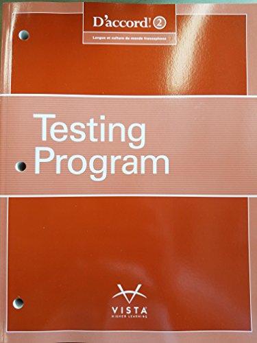 D'accord! Level 2 Testing Program
