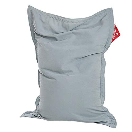 QSack Pouf pour enfant Indy - Avec housse intérieure - microbilles EPS non toxiques - 100 x 140 cm - Bleu gris