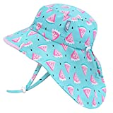 Jan & Jul Kids' Sun-Hats for Girls with UV Protection, Adjustable for Growth (XL: 6-12 Years, Watermelon)