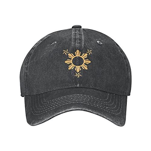 N \ A 3 estrellas y Sun Filipinas Filipinas Gorra de béisbol ajustable para papá sombrero de mezclilla para hombres y mujeres