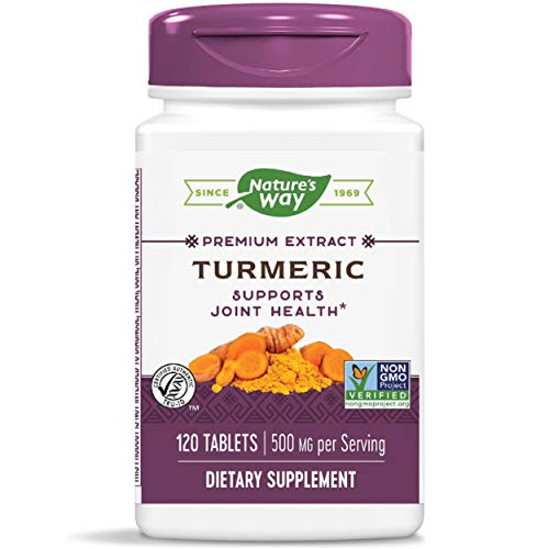 Nature's Way Premium Turmeric Extract, 500 mg per serving, 120 Capsules (Packaging May Vary)