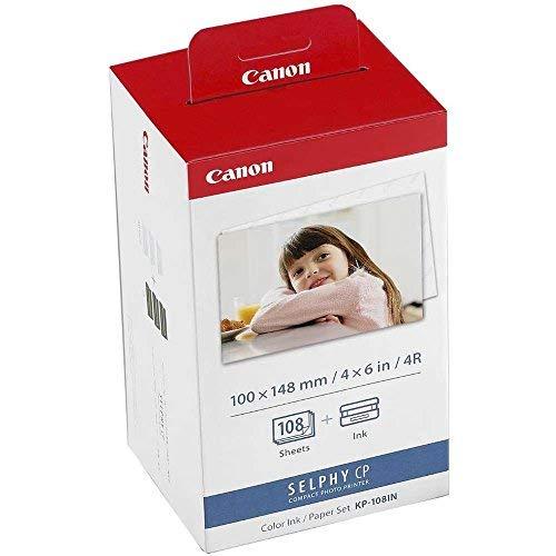 Canon 108IN - Juego de cartucho de tinta y papel fotografico, 108 hojas