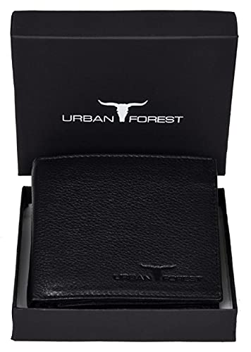 URBAN FOREST Kevin Leather Men's Wallet (UBF130BLK1005_Black)
