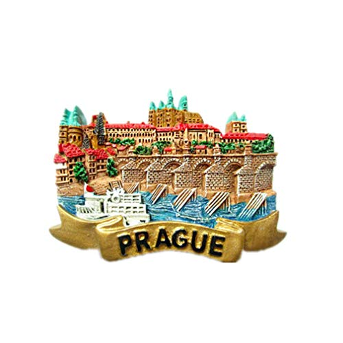 Bella 3D Magneti per FrigoriferoCalamite da Frigo in Resina Viaggio Souvenir del Modo Europa Repubblica Ceca Piazza di Praga Fridge Magnet Sticker