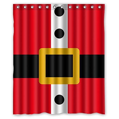 KXMDXA Custom Merry Christmas Santa Claus XMas Shower Curtain Waterproof Polyester Bathroom 60 x 72 inch