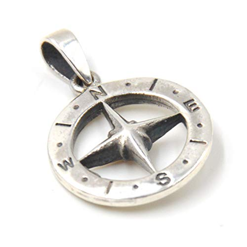 ClaroSchmuck Anhänger Freundschaft Kompass Geschenk, ca. 1.5 cm