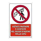 Cartellonistica Schild Schild Schild Warnschild aus Aluminium 50 x 33