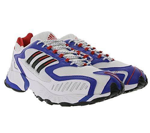 Adidas Originals Torsion TRDC Scarpe da uomo per il tempo libero, scarpe da corsa in stile retrò, colore: bianco/blu/rosso, Bianco (bianco), 41 1/3 EU