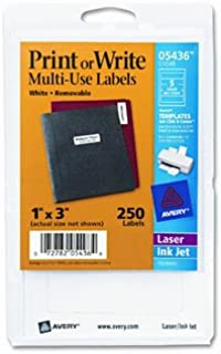 Print or Write Removable Multi-Use Labels, 250/Pack [Set of 2]