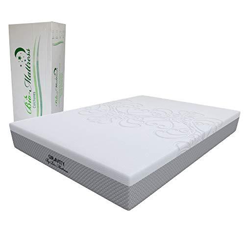 Colchón Memory Foam con Gel Bio Mattress   Modelo Gravity Individual   Espumas con certificación CertiPur   Entrega en caja con 5 Años de Garantía