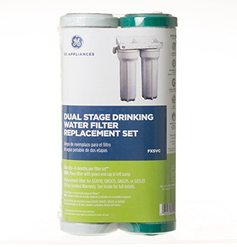 GE FXSVC Dual Stage Drinking Water Filtration System Replacement Filter (VOC)