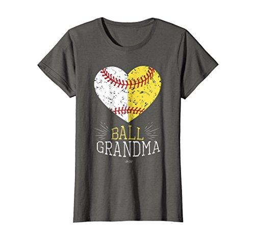 Womens Cute Mom Funny Baseball T Shirt Ball Grandma Softball Gifts
