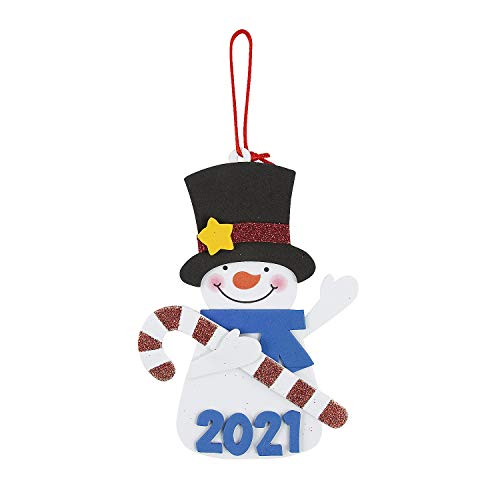 2020 Dated Snowman Christmas Ornament Craft Kits - Makes 12 - Christmas Holiday Crafts for Kids