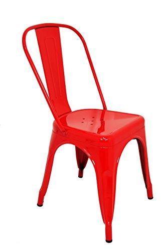 La Chaise Spaniola stoel TOLIX, rood 1 eenheid 85x54x45,5 Azul Y Amarillo