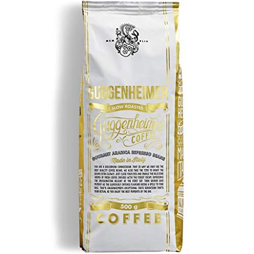 NEU GUGGENHEIMER COFFEE | Kaffeebohnen 2kg | Gourmet Arabica |Extra langsam geröstet | wenig Bitterstoffe | Feinste Crema | Bester Espresso für Vollautomaten | 4 x 500 g