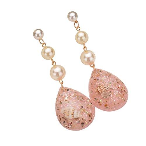 Demarkt De las Mujeres Chicas Vendimia Turquesa Pendientes largos Moda Linda Cristal Diamante Brillantes Pendientes Regalo