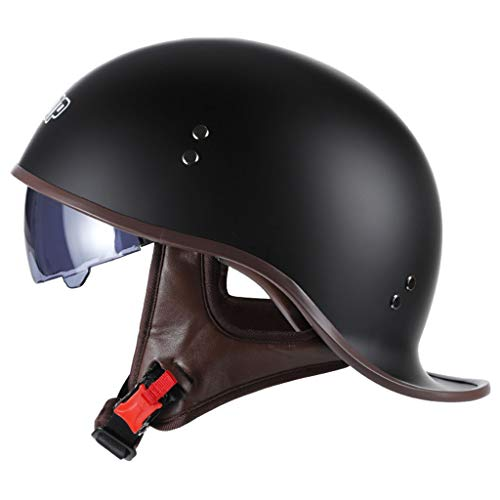 DCLINA Retro Harley Offenes Motorradhelm, Jet-Helm, Halbhelme Brain-Cap, Roller-Helm,...