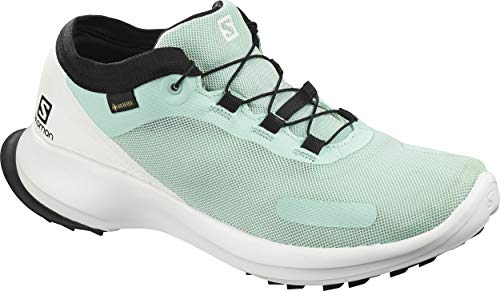 Salomon Damen Trail Running Schuhe, SENSE FEEL GTX W, Farbe: türkis (icy morn/white/black) Größe: EU 36