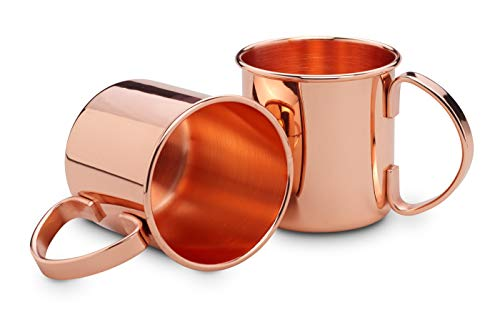 ECHTWERK Moscow Mule - Juego de 4 vasos de cobre fabricados en...