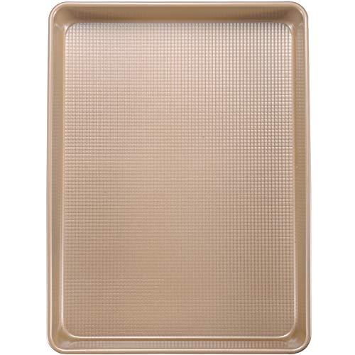 Joho Baking Nonstick Baking Pans,Professional Cookie Sheet Pan for Oven,Large Baking Sheets Half Sheet,13x18in,Gold