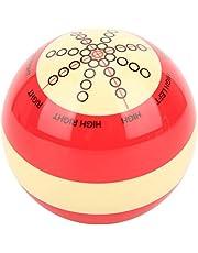 FastUU Bola de Billar de Entrenamiento, Accesorio de Asistencia de práctica de Bola de Billar, Bolas de práctica con líneas y Puntos estándar para Practicar en casa Bola de Billar Americano