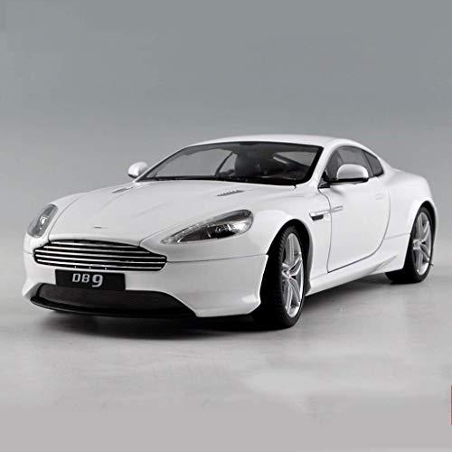 LIUCHANG Modelo de Coche 1:18 Aston Martin DB9 Coche de Deportes del Modelo del Coche Modelo de simulación aleación Coche Regalo de cumpleaños Exclusivo de colección Modelo (Color: Blanco) liuchang20