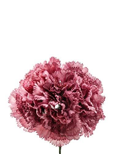 Ramillete de flamenca de claveles malva antiguo