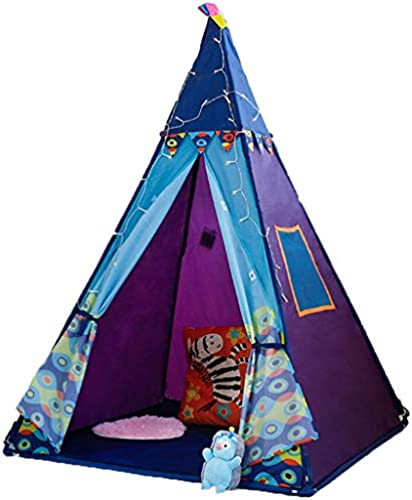 Spielzelte Kinderzelt Innenzelt Spielhaus Spielzeug Baby Prinzessin Geschenk Outdoor Spiel Zelt Blau 100  150 (Farbe   Blau, Größe   100  100  150cm)