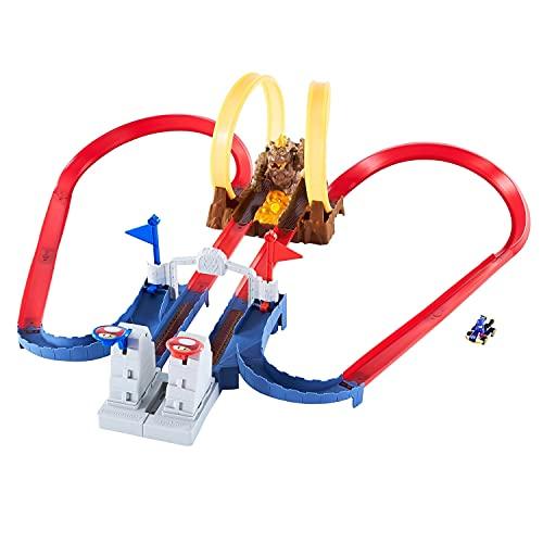 Hot Wheels MarioKart Trucks Chaos Bowser, pista para coches de juguete para niños y niñas +5 años (Mattel GNM22)