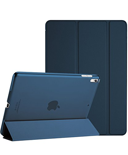"ProCase Apple iPad Pro 10.5"" 2017 ケース - 2017新10.5インチiPad Pro専用 超薄型軽量 スタンドスマートケース 半透明フロストバックカバー 自動スリープ/ウェイク機能付き -ネービーブルー"