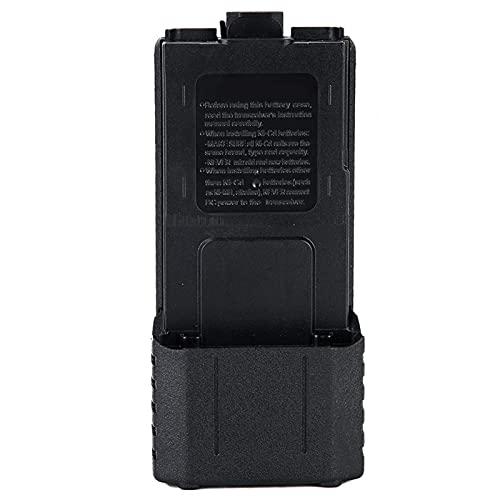 Agatige Caja de Batería Caja de Batería de Walkie Talkie ABS Extendida Caja de Batería 6xAA para Bao-Feng UV-5R UV-5RE UV-5RA