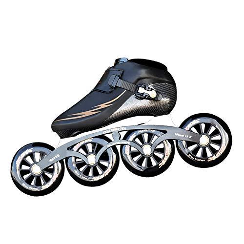 YZJYB Professionelle Speed Skate Verschleißfest Kohlefaser Inline Skates Roller für Kinder Erwachsene Männer Fitness Sportschuhe Anfänger,45