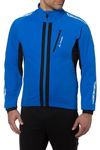 VAUDE Herren Radsport Softshelljacke Kuro II, 05273, Gr. S (Herstellergröße: 48), Blau