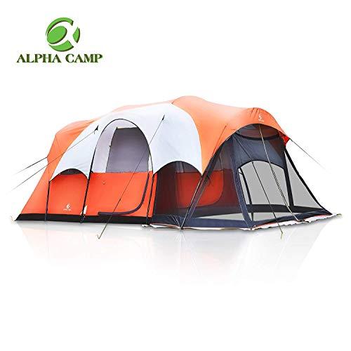 ALPHA CAMP Zelt 6 Personen Wasserdicht Campingzelt für Familie Kuppelzelt