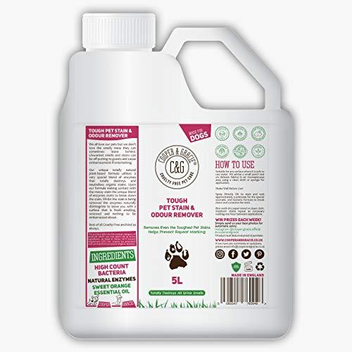 C&G huisdieren | Tough Pet Stain Urine and Odour Remover | Kat en hond formule | High Count Bacteriën Natuurlijke Enzymen Cleaner | Anti-Bacteriële Anti-Fungal Voorkomt merken vernietigt organische vlekken
