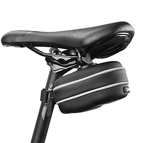 Bolsa De Sillín De Bicicleta, Bolsa De Bicicleta Impermeable, Bolsa De Almacenamiento Portátil para Asiento De Bicicleta 1L De Gran Capacidad, Adecuado para Bicicleta De Carretera, Bicicleta Plegable