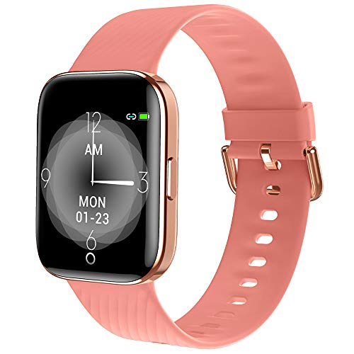 maxtop Smart Watch with Curved Screen - Waterproof Health Watch for Android/iOS Phone with All Day Heart Rate Monitoring and Alarm, Sleep Mornitoring and Exercise Data Monitoring for Unisex