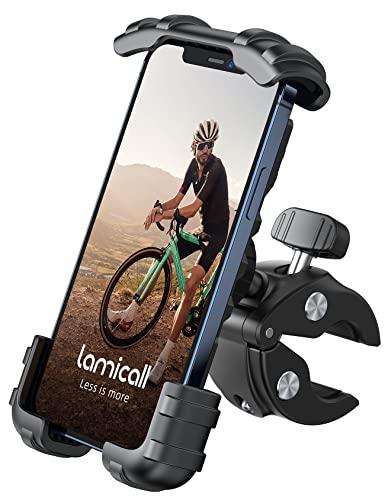 2021 片手操作 自転車用 スマホ ホルダー スタンド Lomicall ロードバイク ワンタッチ スマートフォンホルダー : サイクル クロスバイク バイク すまほ ホルダー, サイクリング フォルダー, バイク用 スマホ固定, 携帯 置き, 携帯電話, ケータイ, bike phone mount, smartphone holder, 防振, 落下防止, けいたい, アイフォン, エクスぺリア, サイクリング, アンドロイド-黒