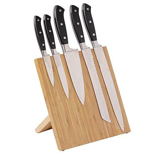 Soporte de cuchillos magnético para cuchillos de madera, ideal para cocina, picnic, viajes, bar y otros lugares