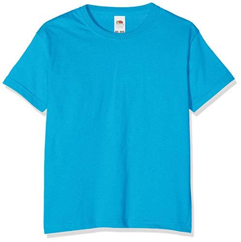 Fruit of the Loom Value T, Camiseta Niño, Azul (Azure), 7-8 años