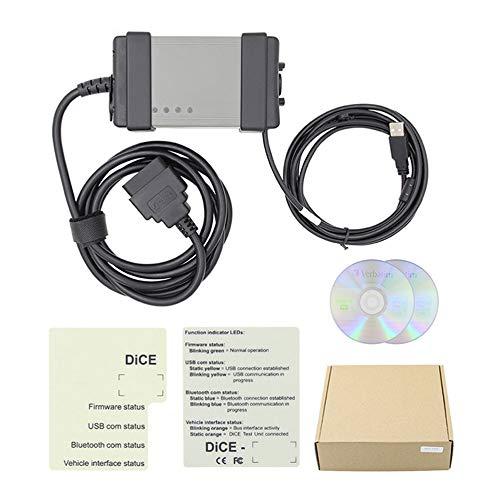 JICHUI Neue Diagnosetester-Scanner-Service-Kabel USB für Volvo Car Vida Dice 2014d(Schwarz)