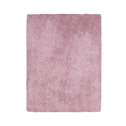 Tapis JXLBB Salon Table Basse Couverture Moderne Rose Maison Chambre Lit Épaisseur De La Peau 1.4x2m Polyester Doux Super Rose Doux