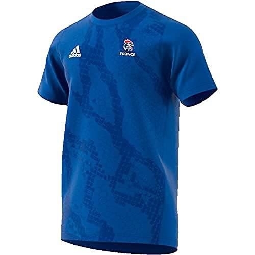 adidas Herren French Handball Federation Training Trikot, Blue/White, M