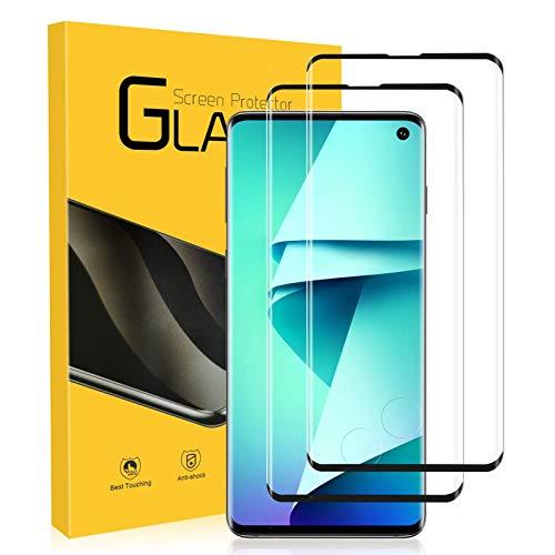 NONZERS Vetro Temperato per Samsung Galaxy S10, [2 Pezzi] 3D /9H Durezza Curvo Copertura Completa Pellicola Vetro, Protezione Completa, Senza Bolle, Anti-Olio...