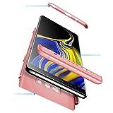 UCASE Custodia Compatibile per Samsung Galaxy Note9 Cover+Vetro Temperato Pellicola Rigida PC Anti-Shock Protector Slim Anti-Impronta Case[Upgrade]:Oro Rosa