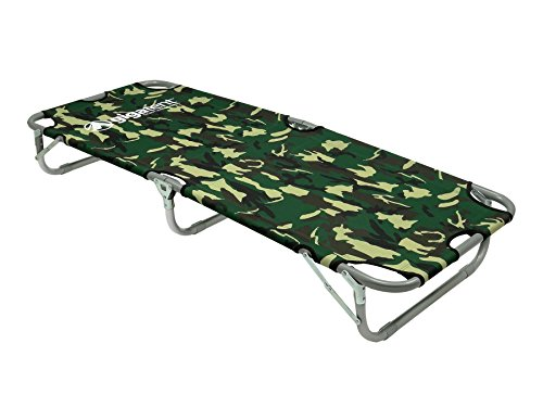 """GigaTent Kids Junior Cot Portable Folding Travel Bed - Camping Outdoor Hiking RV or School Child Daycare - 60"""" Long - Includes Travel Bag - Camouflage"""