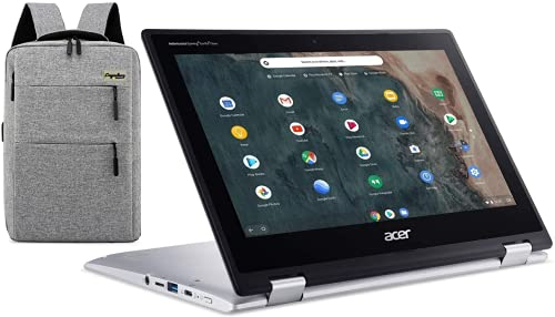 """Acer Spin 11 2-in-1 11.6"""" IPS Touch-Screen Convertible Chromebook, Intel Celeron Dual-Core N4000, 4GB DDR4, 64GB eMMC, HDMI, Webcam, WiFi, 10-Hour Battery /Legendary Computer Backpack Bundle"""