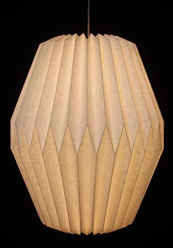 Guru-Shop Origami Design Papier Lampenschirm - Modell Portofino, 40x30x30 cm, Asiatische Deckenlampen aus Papier & Stoff