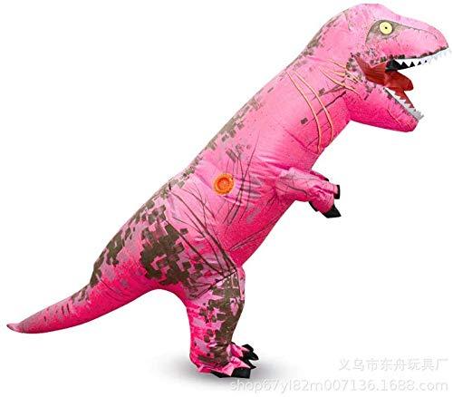 N\A ZT 2X nios Halloween Tyronosaurus Rex Disfraces inflables Dinosaurios Fiesta de Navidad Funny Outdoor Games Fotografiando Dibujos Animados Muecas Animales (Color : Mei Hong)
